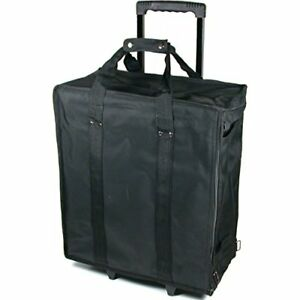 Large Jewelry Display Rolling Carrying Case W 17 Trays