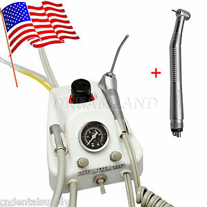 Portable Dental Turbine Unit 4 Hole High Speed Handpiece Usa Stock Y1ba4