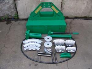 Greenlee 777 Hydraulic Bender 1 1 4 To 4 Inch Rigid Pipe Works Great