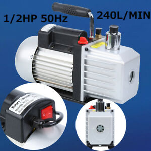 9cfm Single Stage Vacuum Pump Rotary Vane 3 4hp Air Refrigeration Tool 300ml