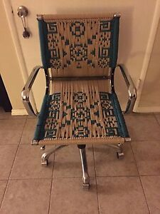 Unique Macrame Office Chair Artist Up Cycled Ooak