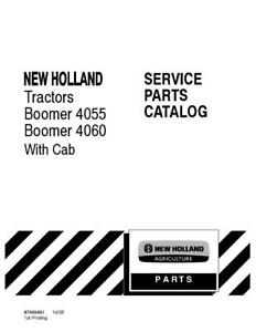New Holland Boomer 4055 Boomer 4060 W cab Tractor Parts Catalog
