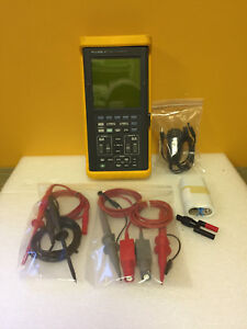 Fluke 97 50 Mhz 2 Ch 25 Msa s Scope Meter Probes Leads Batery Etc