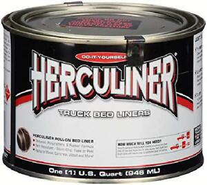 Herculiner Hcl1b7 Brush On Bed Liner 1 Quart 32 Ounces Black