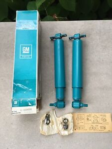 Pair Nos Delco Shocks 1965 1975 Buick Cadillac Gm 1154091 12322207