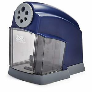 Electric Pencil Sharpener Blue transparent Heavy duty Helical Steel Cutter