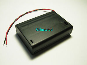 10pcs New 3 6v 4 5v 3 X Aaa Battery Holder Box Case W wire Switch On off