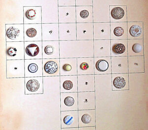 Antique Victorian White Glass Buttons Card 155 23 Total Small