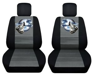 Fits 2012 2016 Toyota Camry Front Set Car Seat Covers Wolf Design