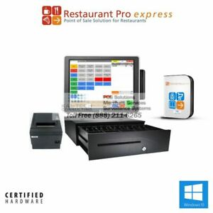 Pcamerica Pos System Rpe Restaurant Pro Express Pizza Bar 3gb 4gb free Support