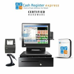 Pcamerica Cre Pos Cash Register Express For Tobacco Stores Smoke Shops I3 4gb