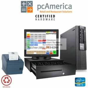 Pcamerica Rpe Counter Quick Service Restaurant Pos Pos System I3 4gb Free Suppor