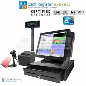 Pcamerica Cre Pos Touch Dynamic Retail Supermarket All in one Pos New I3 4gb