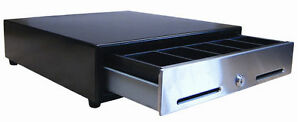 Ms Cash Drawer Usb Black Cf 405 All Steel New Poynt Compatible