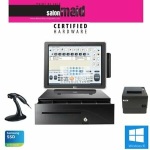 Single Station All In One Pos System Salon Configuration Fast Pos 3gb ssd Hd