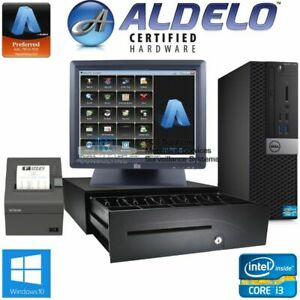 Brand New Aldelo Pro Pos Restaurant Bar Pizza Pos I3 4gb Ram Win10 Free Support