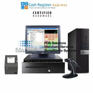 New Dell Pcamerica Cre Cash Register Express Pos Retail Version W Elo Screen