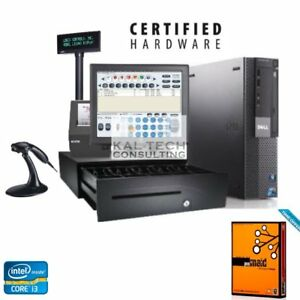 Retail Convenience Store Pos Complete System With Retail Maid Software I3 Cpu