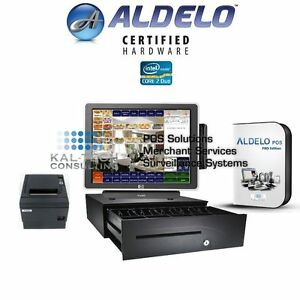 Aldelo Pro Restaurant Bar Bakery Pizza Pos Complete Station Windows 7 New 3gb