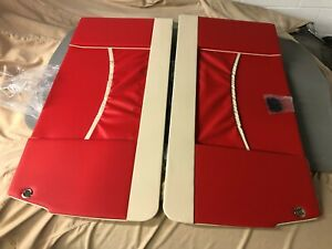 Fiat 500 Bianchina Autobianchi Transformabile Red Interior Door Panels Microcar