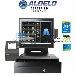 Aldelo Pro Hp Cafe Restaurant All in one Complete Pos System Bundle New I5 8gb