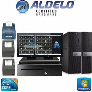 Aldelo Plus Pos Restaurant Complete 2 Station W elo Touch Screens Brand New