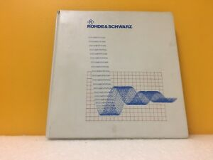 Rohde Schwarz 1062 5583 19 03 Signal Generator Am fm phim Operating Manual
