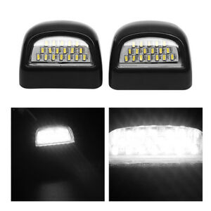 Pair Led License Plate Light Lens For 1999 2013 Gmc Sierra 1500 2500hd 3500hd