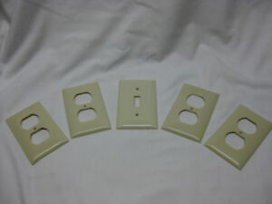 Vintage 1960 S Mid Century Sierra Light Switch Plate Outlet Cover Set Of 5
