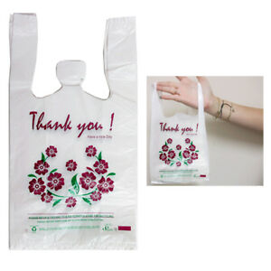 700 Pc T Shirt Thank You Retail Flowers 15 X 8 Shopping Grocery Store Bags Small