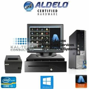 Aldelo Pro Pos Restaurant Bar Complete Dell Pos System 1 Station Windows 7 New