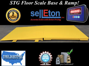 New Industrial 60 X 60 Floor Scale With Ramp 2500 Lbs X 5 Lb Digital Pallet