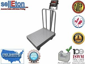 Op 915bwd Ntep Legal For Trade Diamond Plate Bench Scale With Wheels