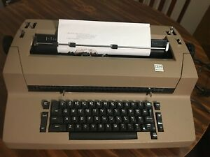 70s Ibm Correcting Selectric Ii Electric Typewriter Brown With Manual tested