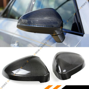 For 17 19 Audi A4 S4 A5 S5 Rs5 Add on Carbon Fiber Mirror Cover W o Lane Assist