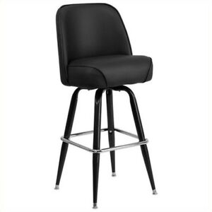 Flash Furniture Heavy Duty Commercial Metal Bar Stool With Swivel Bucket Seat