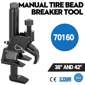 Portable Manual Tire Bead Breaker Operates With Air Ratchet Wrench Tool