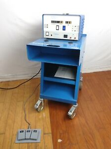 Codman 80 1170 Cmc Iii Bipolar Electrosurgical System W Cart And Foot Pedal