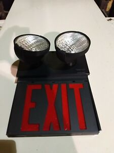 New In Box Dual Lite Exquisite Series Dual Lite Exit Sign Model Ewrbb rg