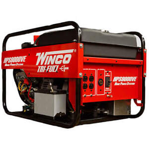 Winco Hps9000ve 8 000 Watt Tri fuel Generator W Electric Start B