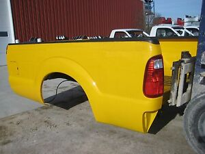 Ford Super Duty F250 F350 New Take Off 8 Truck Bed Box Yellow With No Tailgate