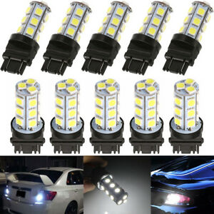 10set 3157 White 18smd 5050 Reverse Brake stop turn Tail Back Up Led Bulbs In Us