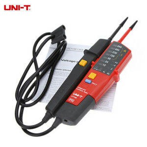 Uni t Ut18c Lcd Digital Voltage Continuity Tester Auto Range Rcd Ph