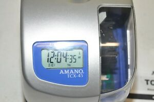 Amano Tcx 45 Atomic Digital Time Clock With Key