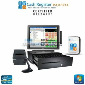 Pcamerica Cre All in one Retail Liquor Store Pos System Hp 3gb Ram Core 2 Duo
