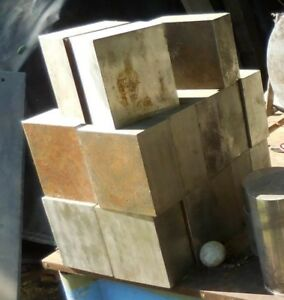 316 Stainless Steel Square Block plate About 5 X 4 X 2 25