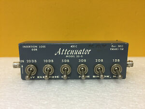 Kay 431c Dc To 1 Ghz 41 Db 6 Steps Bnc f Step Attenuator Tested