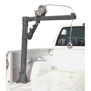 1 2 Ton Capacity Pickup Truck Crane Cable Winch Load Lift Bed Extends Lock