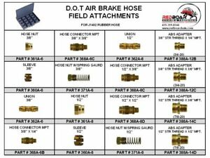 Dot Air Brake Hose Field Attachable Assortment For J1402 Rubber Hose Metal Tray