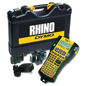 Dymo Rhino 5200 Industrial Label Maker Cary Case Kit With 2 Rolls Of Vinyl